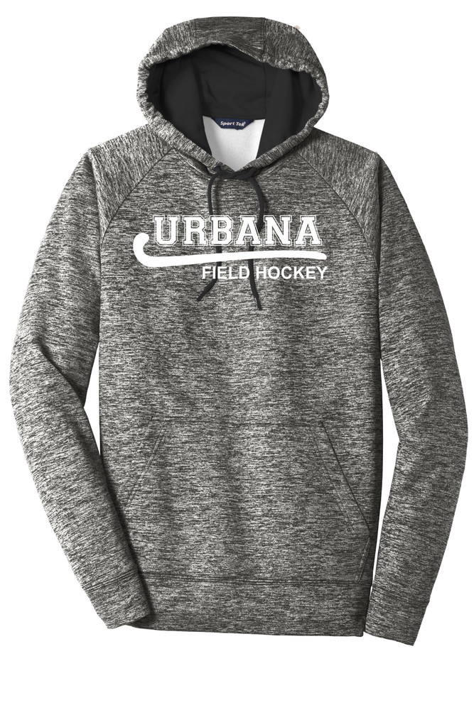 Urbana Hawks FIELD HOCKEY Hoodie Performance PosiCharge Electric Heather Fleece Pullover Sweatshirt Many Colors Available Sizes XS-4XL BLACK ELECTRIC