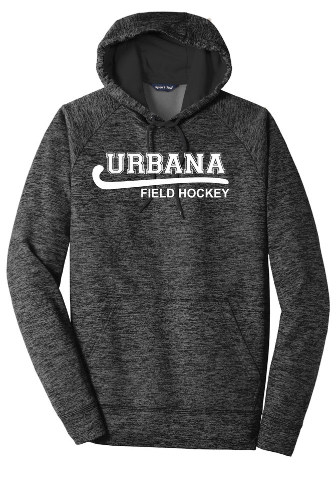 Urbana Hawks FIELD HOCKEY Hoodie Performance PosiCharge Electric Heather Fleece Pullover Sweatshirt Many Colors Available Sizes XS-4XL GREY/BLACK ELECTRIC