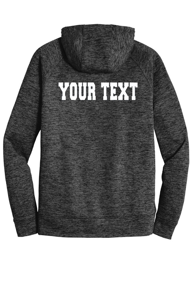 Urbana FIELD HOCKEY Hoodie Performance PosiCharge Electric Heather Fleece Pullover Sweatshirt Sticks Many Colors Available Sizes XS-4XL  GREY/BLACK ELECTRIC BACK PERSONALIZED