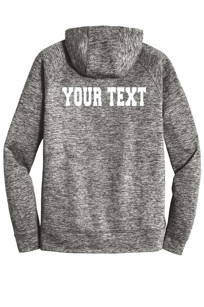 Urbana FIELD HOCKEY Hoodie Performance PosiCharge Electric Heather Fleece Pullover Sweatshirt Sticks Many Colors Available Sizes XS-4XL  BLACK ELECTRIC BACK PERSONALIZED