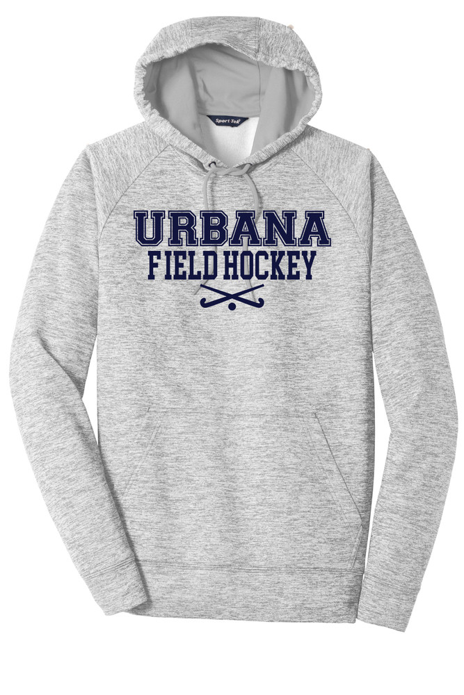 Urbana FIELD HOCKEY Hoodie Performance PosiCharge Electric Heather Fleece Pullover Sweatshirt Sticks Many Colors Available Sizes XS-4XL  SILVER ELECTRIC