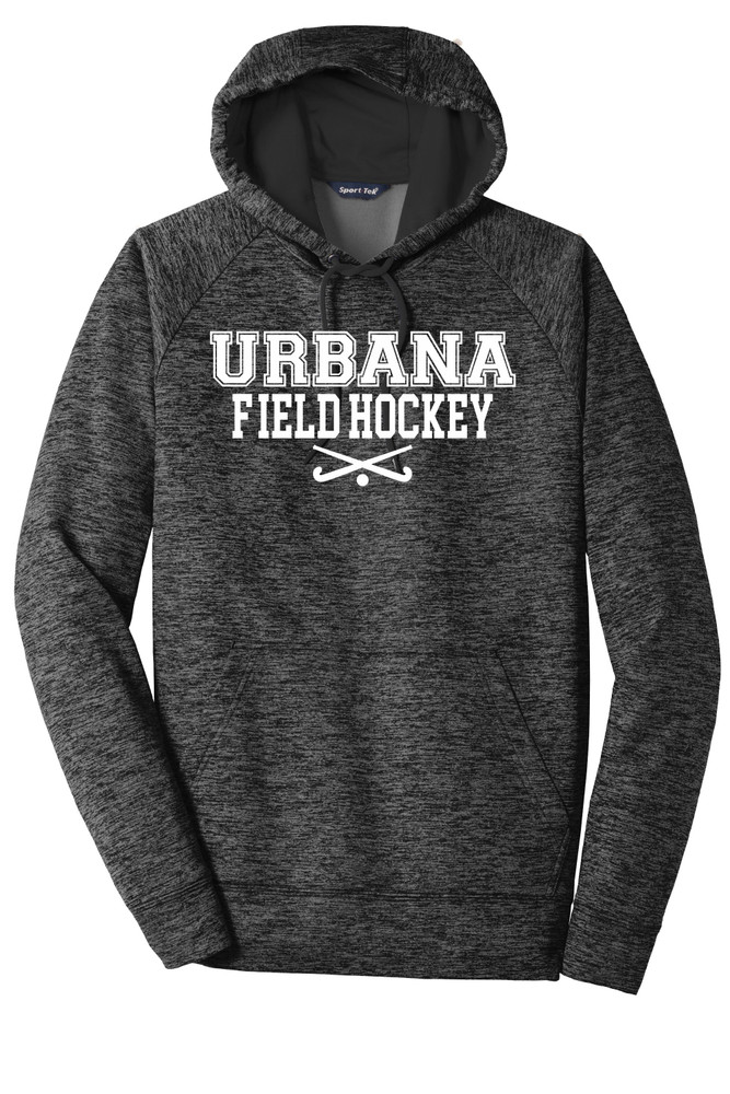 Urbana FIELD HOCKEY Hoodie Performance PosiCharge Electric Heather Fleece Pullover Sweatshirt Sticks Many Colors Available Sizes XS-4XL GREY/BLACK ELECTRIC