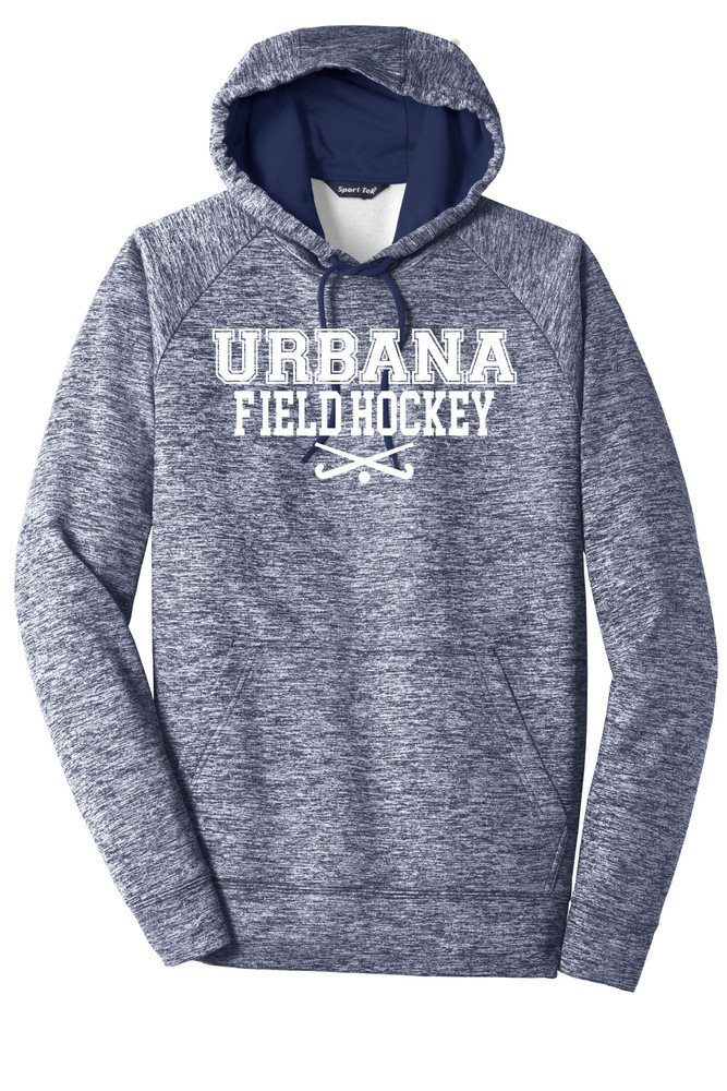 Urbana FIELD HOCKEY Hoodie Performance PosiCharge Electric Heather Fleece Pullover Sweatshirt Sticks Many Colors Available Sizes XS-4XL TRUE NAVY ELECTRIC
