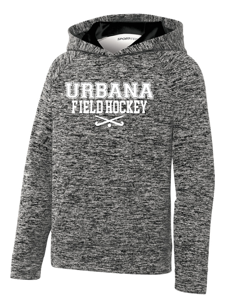 Urbana FIELD HOCKEY Hoodie Performance PosiCharge Electric Heather Fleece Pullover Sweatshirt Sticks Many Colors Available YOUTH Sizes S-XL BLACK ELECTRIC