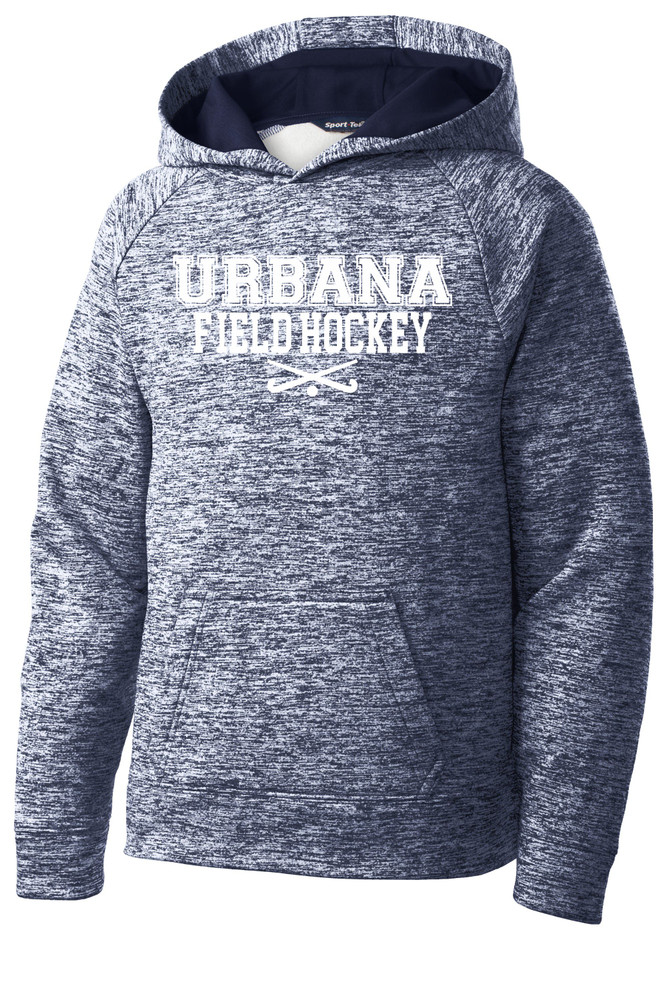 Urbana FIELD HOCKEY Hoodie Performance PosiCharge Electric Heather Fleece Pullover Sweatshirt Sticks Many Colors Available YOUTH Sizes S-XL TRUE NAVY ELECTIRC