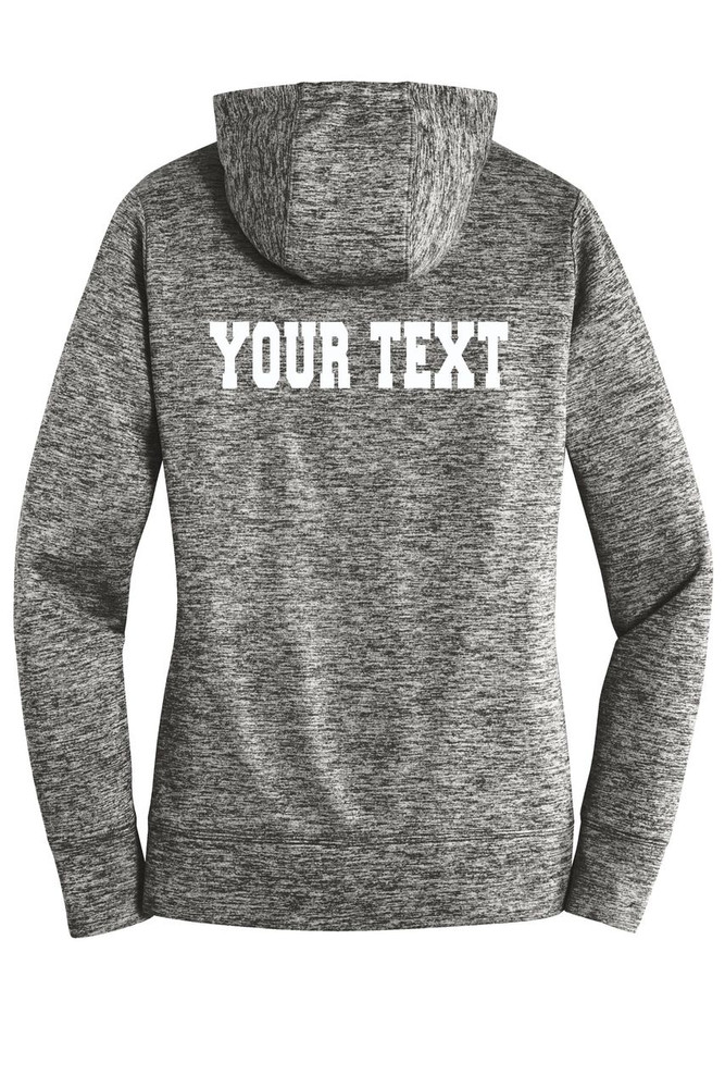 Urbana FIELD HOCKEY Hoodie Performance PosiCharge Electric Heather Fleece Pullover Sweatshirt Sticks Many Colors Available LADIES Sizes XS-4XL  BLACK ELECTRIC BACK PERSONALIZED