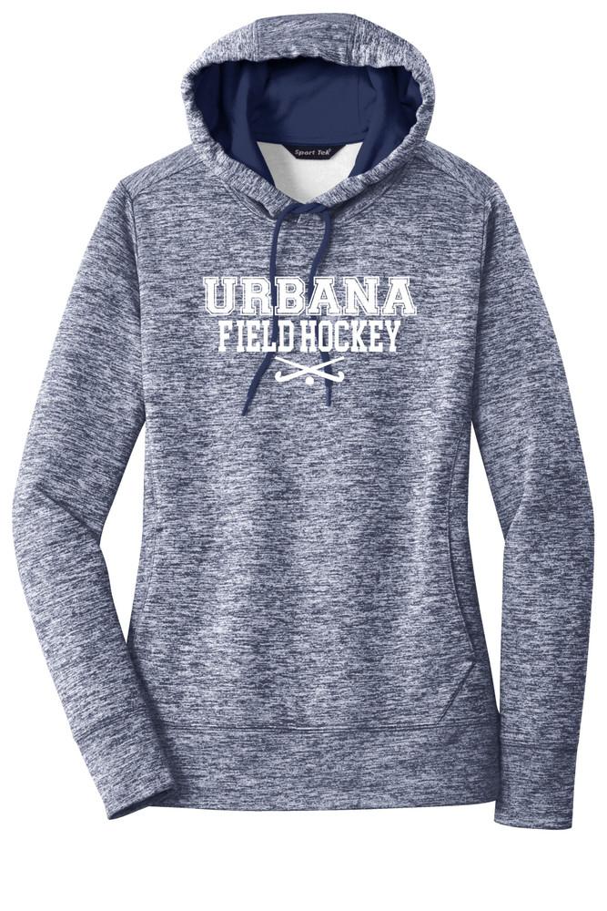 Urbana FIELD HOCKEY Hoodie Performance PosiCharge Electric Heather Fleece Pullover Sweatshirt Sticks Many Colors Available LADIES Sizes XS-4XL