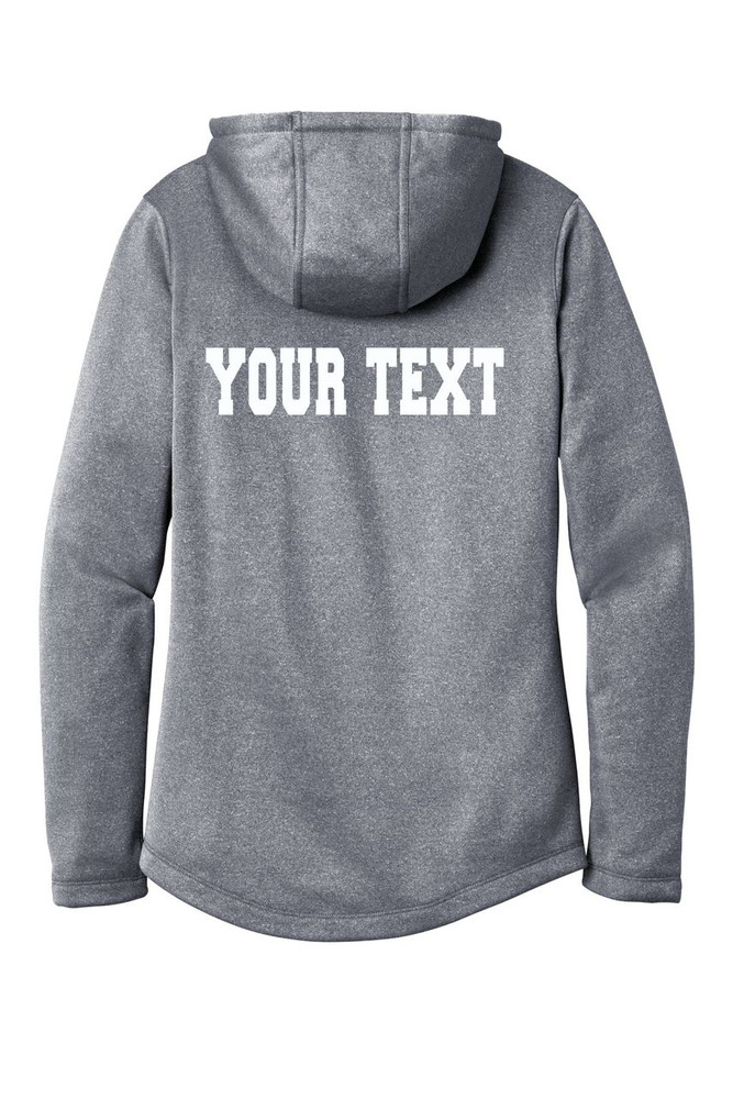 Urbana FIELD HOCKEY Hooded Performance PosiCharge Heather Fleece Pullover Sweatshirt Sticks LADIES Sizes XS-4XL Many Colors Available  BACKSIDE PERSONALIZATION TRUE NAVY HEATHER