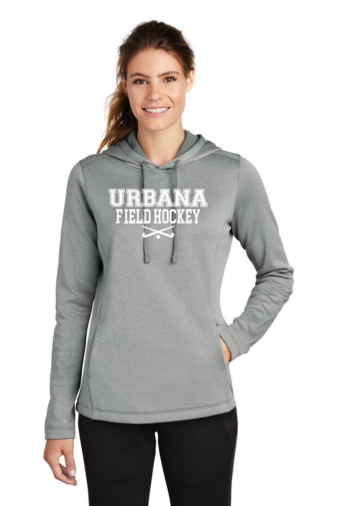 Urbana FIELD HOCKEY Hooded Performance PosiCharge Heather Fleece Pullover Sweatshirt Sticks LADIES Sizes XS-4XL Many Colors Available MODEL