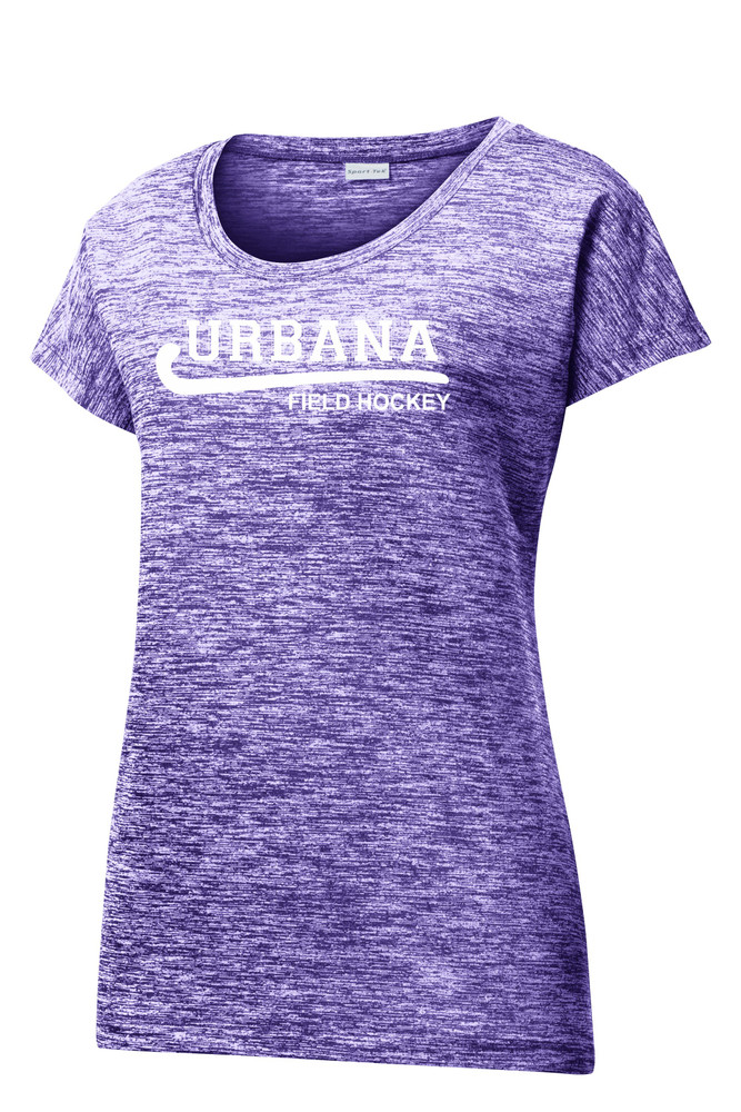 Urbana Hawks FIELD HOCKEY T-shirt Performance PosiCharge Electric Shirt Many Colors Available LADIES SZ XS-4XL  PURPLE ELECTRIC
