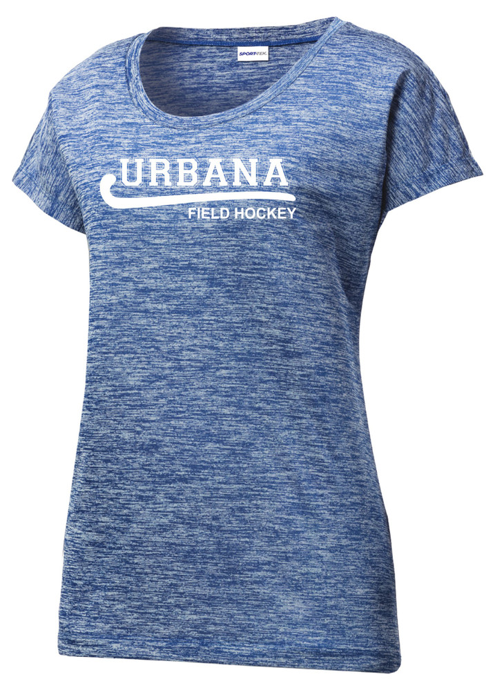 Urbana Hawks FIELD HOCKEY T-shirt Performance PosiCharge Electric Shirt Many Colors Available LADIES SZ XS-4XL  TRUE ROYAL ELECTRIC