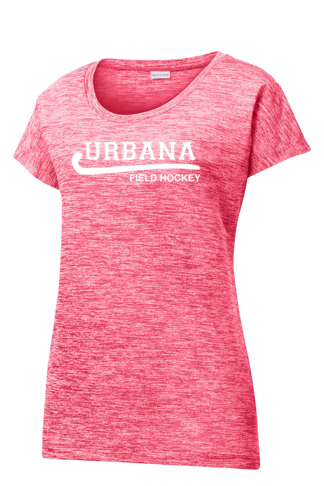 Urbana Hawks FIELD HOCKEY T-shirt Performance PosiCharge Electric Shirt Many Colors Available LADIES SZ XS-4XL  POWER PINK ELECTRIC