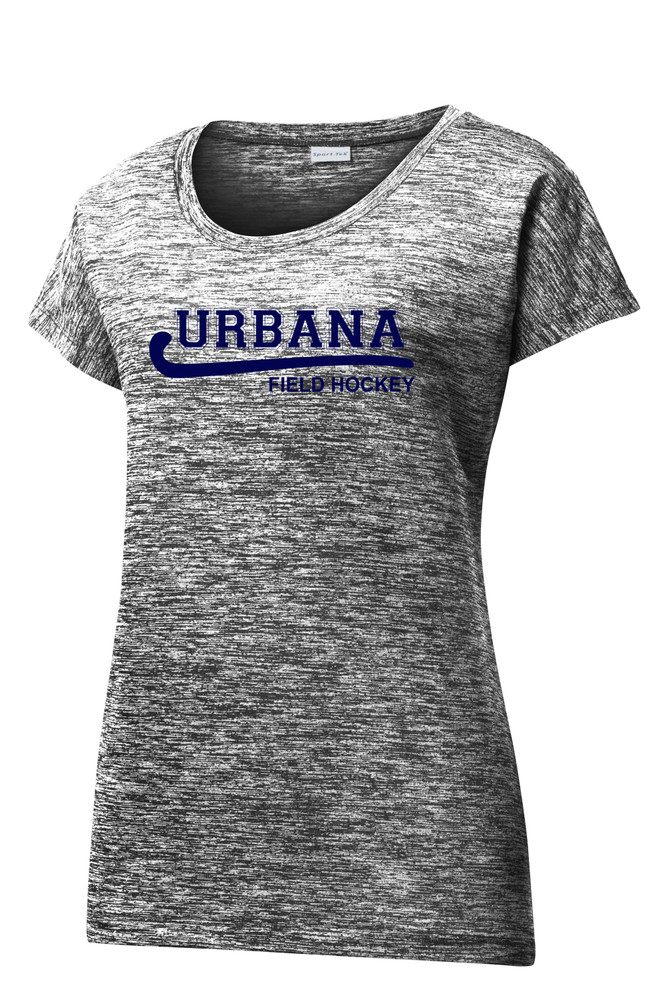 Urbana Hawks FIELD HOCKEY T-shirt Performance PosiCharge Electric Shirt Many Colors Available LADIES SZ XS-4XL  BLACK ELECTRIC