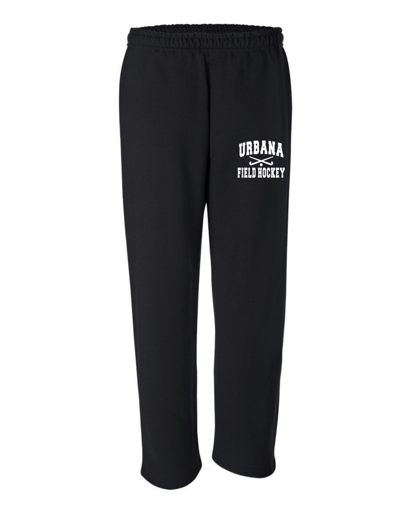 Urbana Hawks Sweatpants Cotton OPEN BOTTOM YOUTH Color Many Colors Available Sticks SIZES S-XL  BLACK