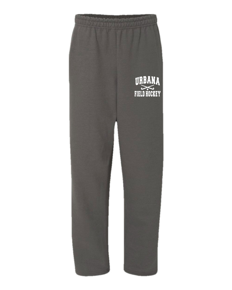Urbana Hawks Sweatpants Cotton OPEN BOTTOM YOUTH Color Many Colors Available Sticks SIZES S-XL  CHARCOAL GREY