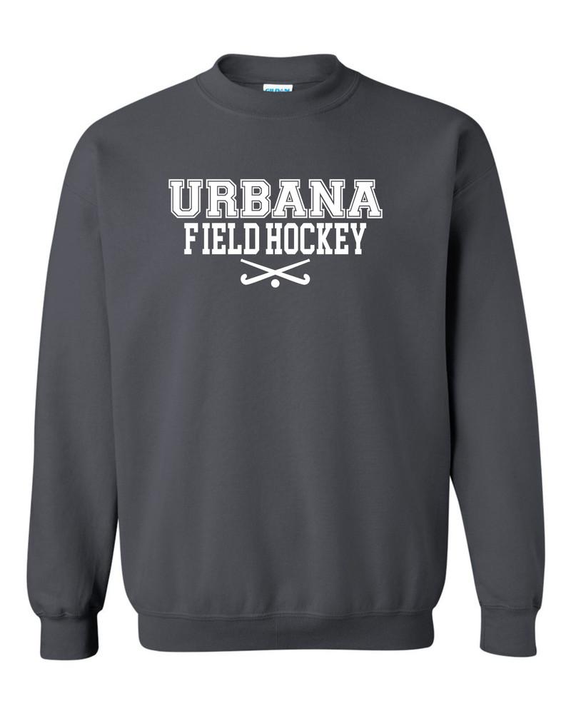 Urbana FIELD HOCKEY Cotton Crewneck Sweatshirt Sticks Many Colors Available Size S-3XL CHARCOAL