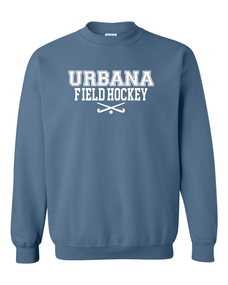 Urbana FIELD HOCKEY Cotton Crewneck Sweatshirt Sticks Many Colors Available Size S-3XL INDIGO