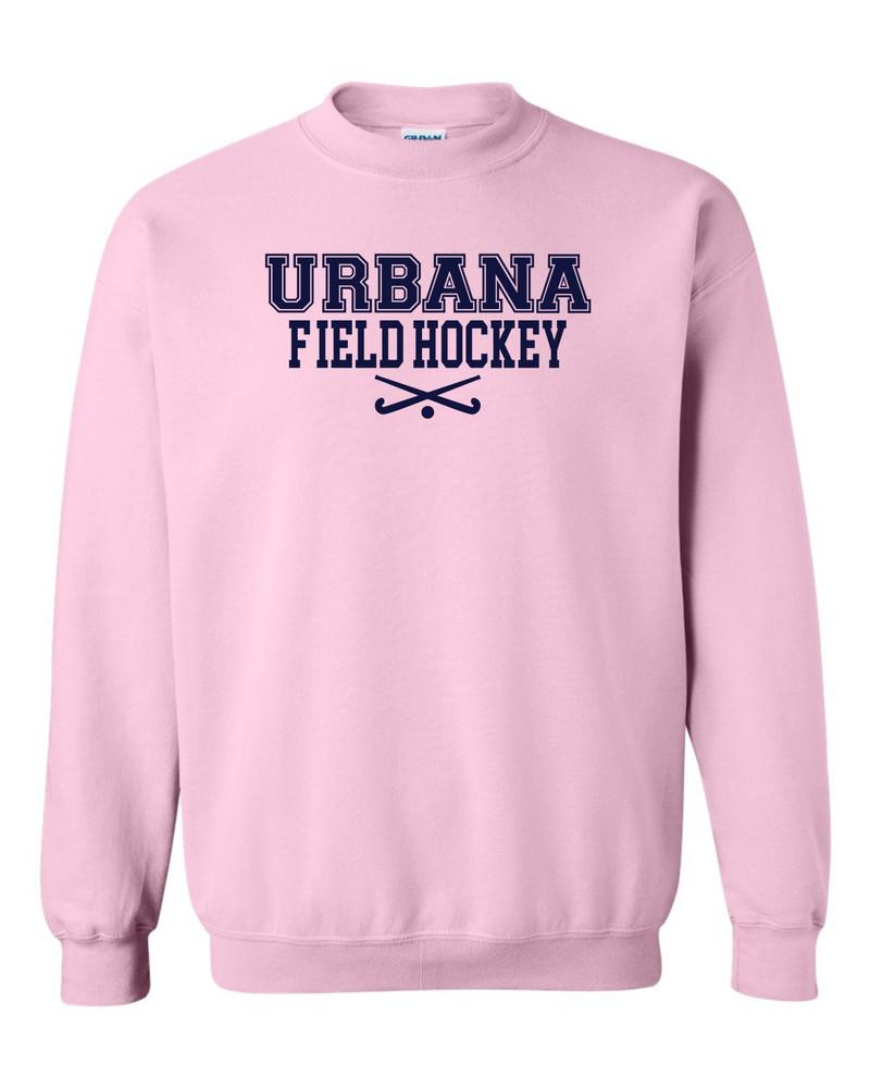 Urbana FIELD HOCKEY Cotton Crewneck Sweatshirt Sticks Many Colors Available Size S-3XL LT PINK