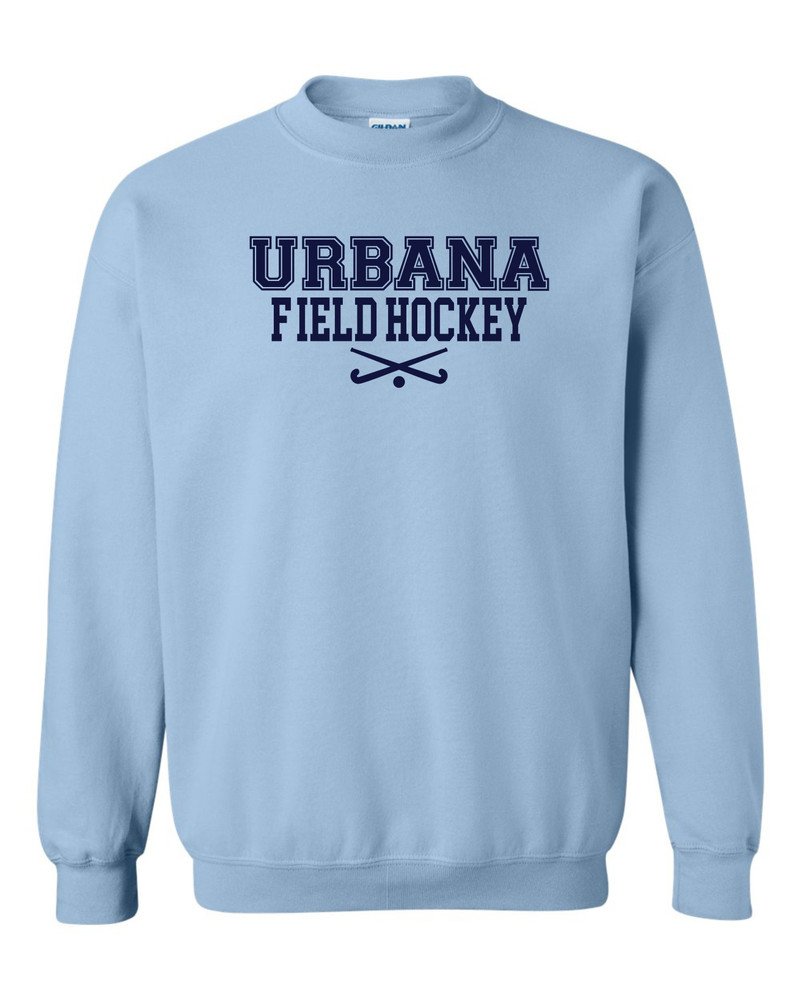 Urbana FIELD HOCKEY Cotton Crewneck Sweatshirt Sticks Many Colors Available Size S-3XL LT BLUE