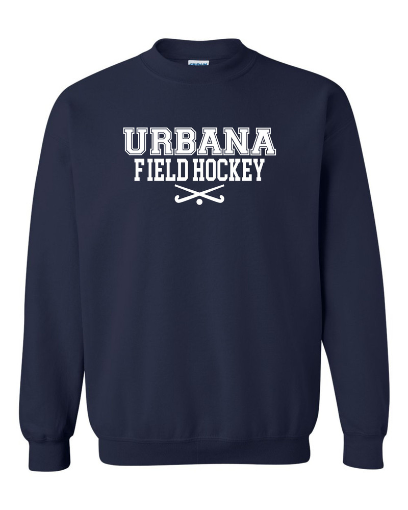 Urbana FIELD HOCKEY Cotton Crewneck Sweatshirt Sticks Many Colors Available YOUTH Size S-XL  NAVY