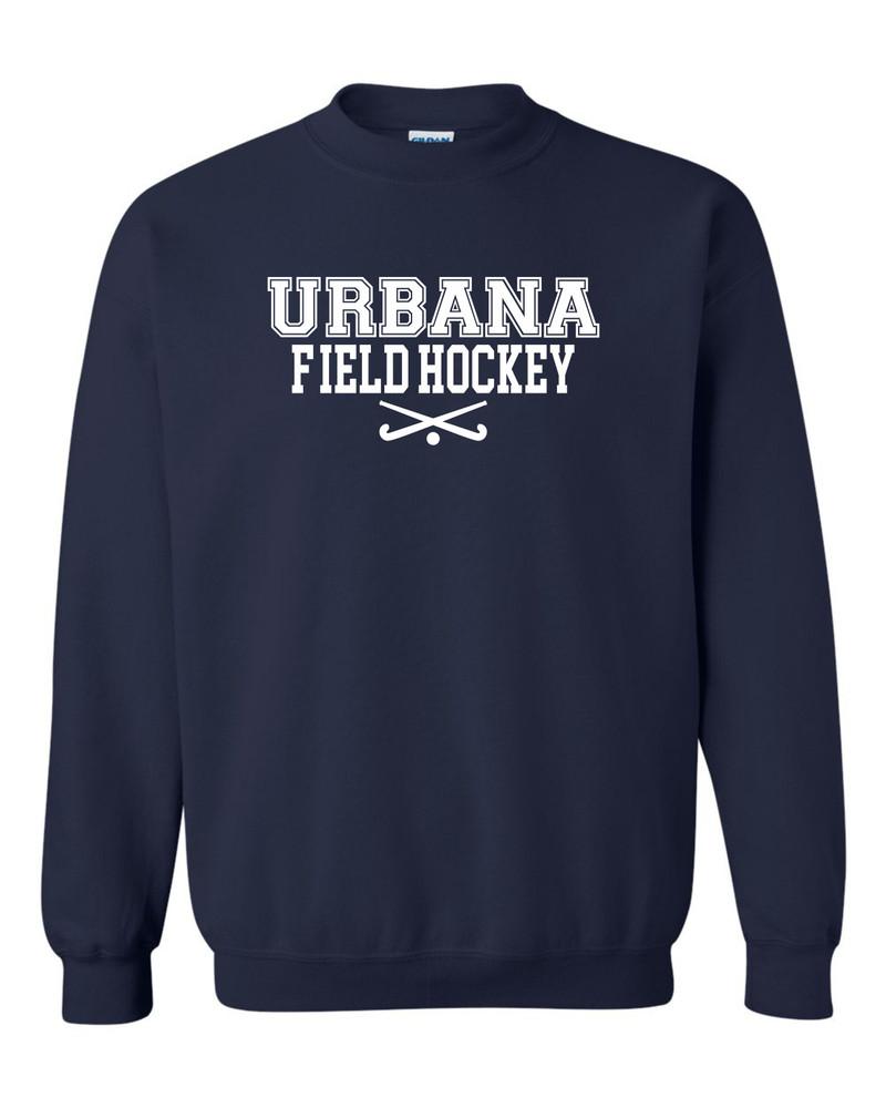 Urbana FIELD HOCKEY Cotton Crewneck Sweatshirt Sticks Many Colors Available YOUTH Size S-XL  NAVY