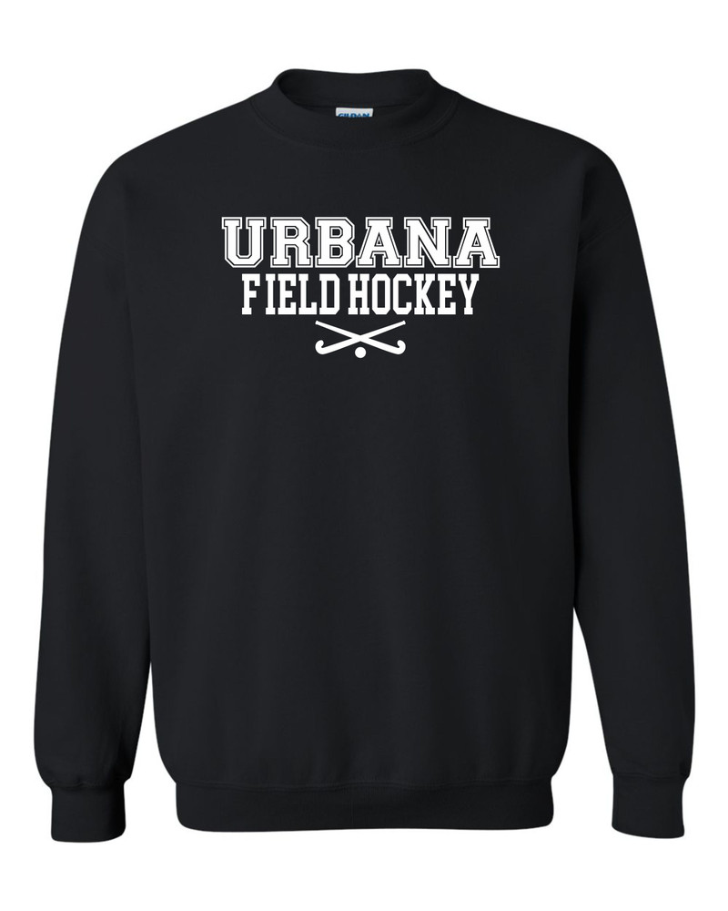 Urbana FIELD HOCKEY Cotton Crewneck Sweatshirt Sticks Many Colors Available YOUTH Size S-XL  BLACK
