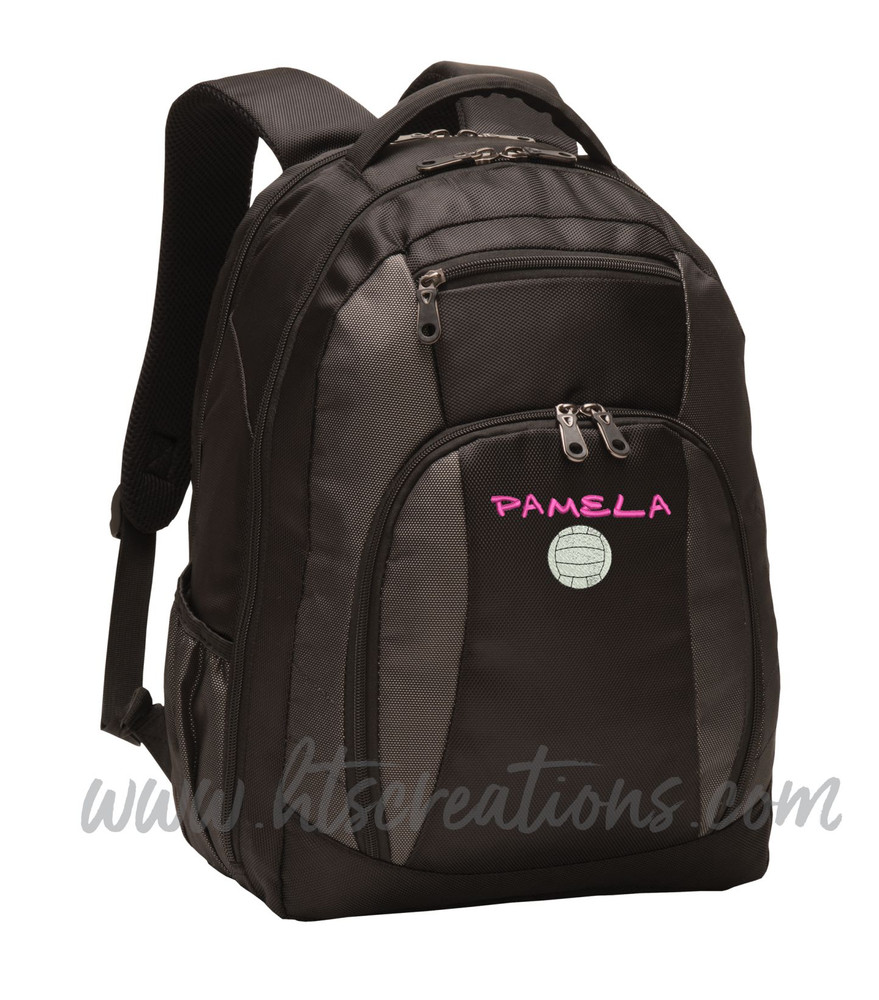 Volleyball Coach Team Mom Player Sports Personalized Embroidered Monogram Backpack Waterbottle Holder Font Style MARKER CAP