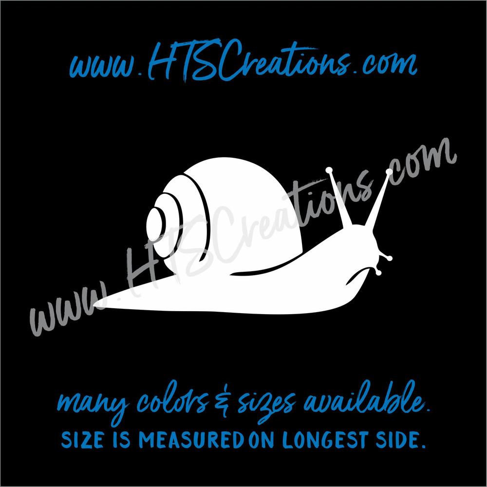 Snail Sea Life Shelled Coiled Nautical Beach Ocean Vinyl Decal Laptop Car Door Mirror Truck Boat Surfboard WHITE