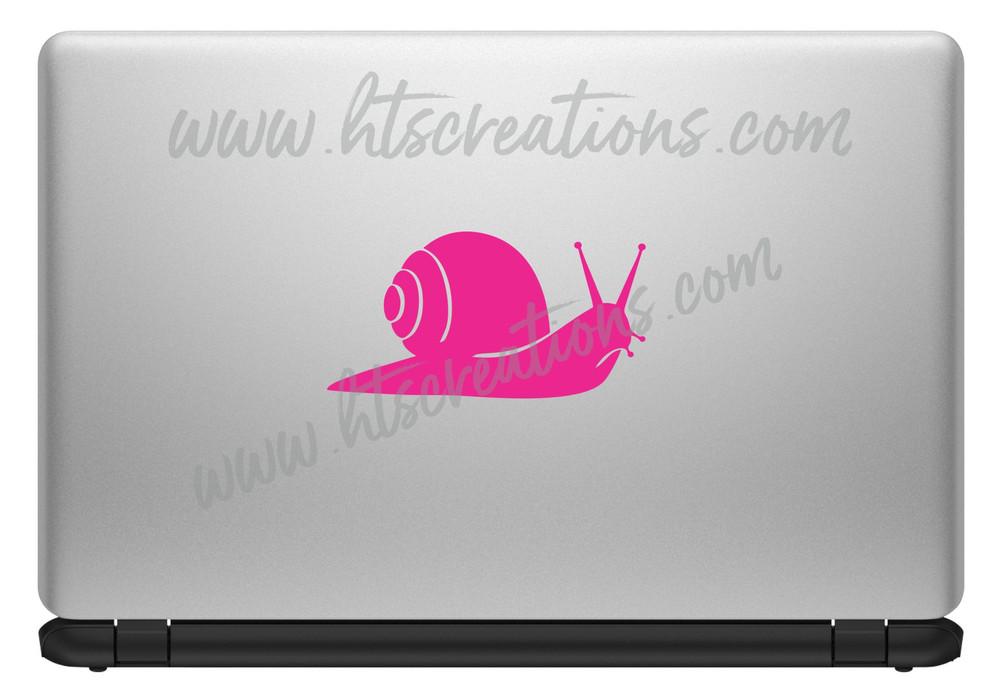 Snail Sea Life Shelled Coiled Nautical Beach Ocean Vinyl Decal Laptop Car Door Mirror Truck Boat Surfboard HOT PINK