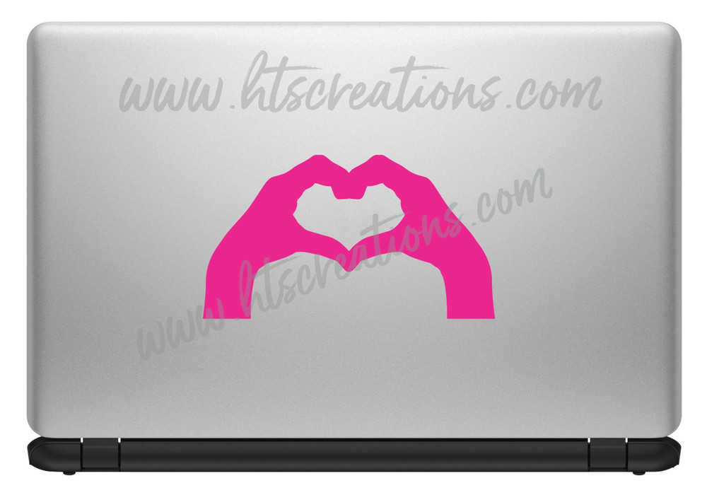 Hand Sign Posture Love You Romantic Heart Expression Sign Language  Icon SLP Vinyl Decal Laptop Car Door Mirror Truck Glass HOT PINK
