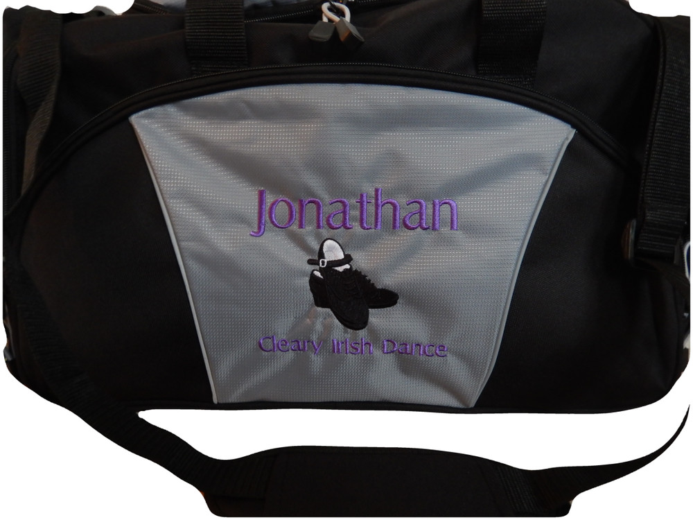 Irish Dance Clogging Clogger Tap Shoes Mens Celtic Ireland Dance Personalized Embroidered Duffel Bag