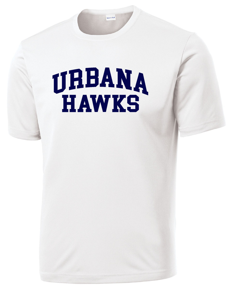 Urbana Hawks TENNIS T-shirt Performance Posi Charge Competitor Many Colors Available SZ XS-4XL WHITE