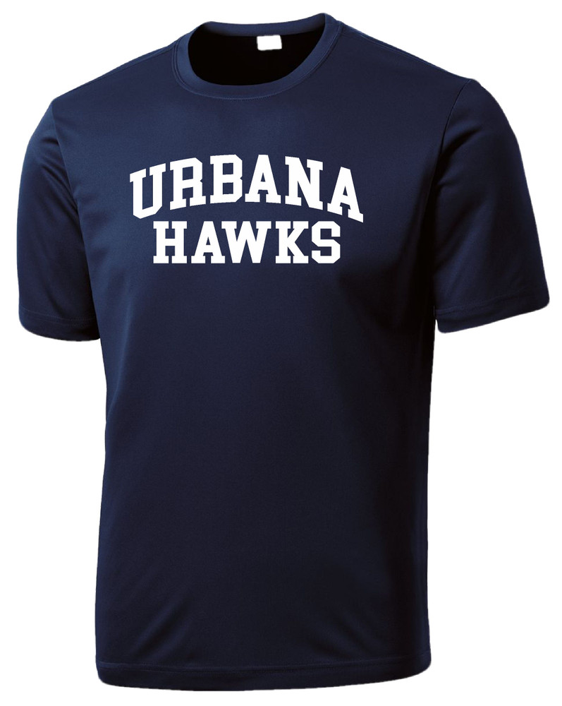 Urbana Hawks TENNIS T-shirt Performance Posi Charge Competitor Many Colors Available SZ XS-4XL NAVY