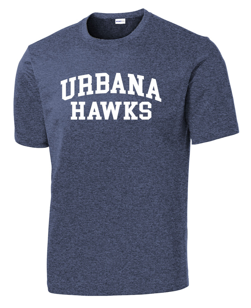 Urbana Hawks TENNIS T-shirt Performance Posi Charge Competitor Many Colors Available SZ XS-4XL HEATHERED NAVY