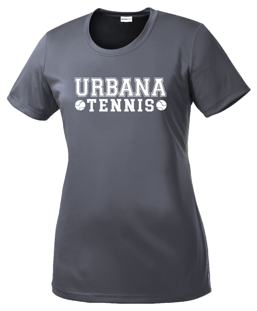 UHS Urbana Hawks TENNIS T-shirt Performance Posi Charge Competitor Many Colors Available LADIES SZ XS-4XL  GREY CONCRETE