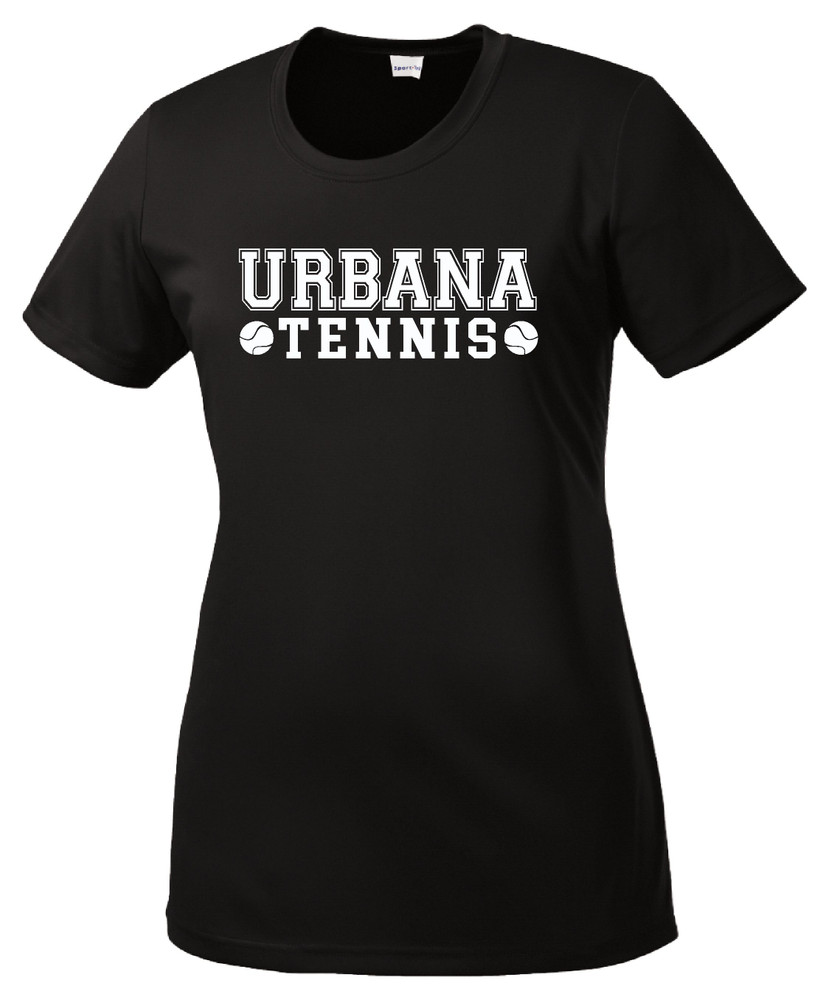 UHS Urbana Hawks TENNIS T-shirt Performance Posi Charge Competitor Many Colors Available LADIES SZ XS-4XL  BLACK