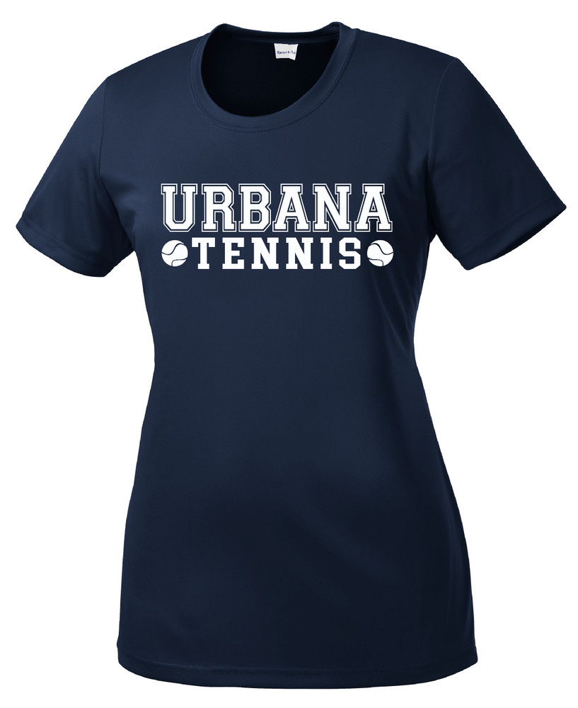 UHS Urbana Hawks TENNIS T-shirt Performance Posi Charge Competitor Many Colors Available LADIES SZ XS-4XL NAVY