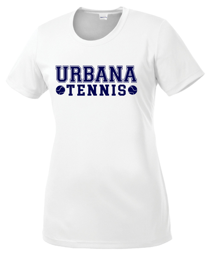 UHS Urbana Hawks TENNIS T-shirt Performance Posi Charge Competitor Many Colors Available LADIES SZ XS-4XL  WHITE