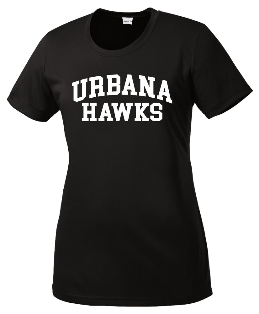 UHS Urbana Hawks T-shirt Performance Posi Charge Competitor Many Colors Available LADIES SZ XS-4XL BLACK