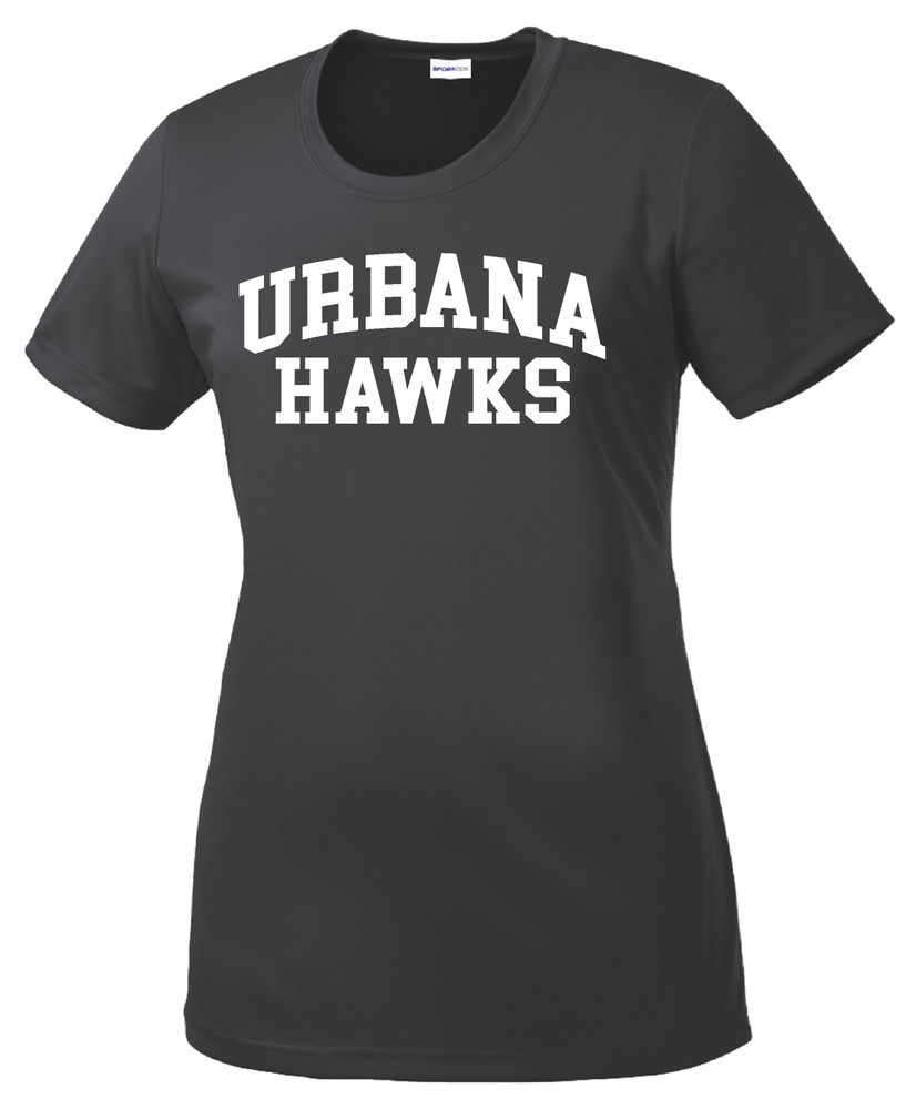 UHS Urbana Hawks T-shirt Performance Posi Charge Competitor Many Colors Available LADIES SZ XS-4XL IRON GREY