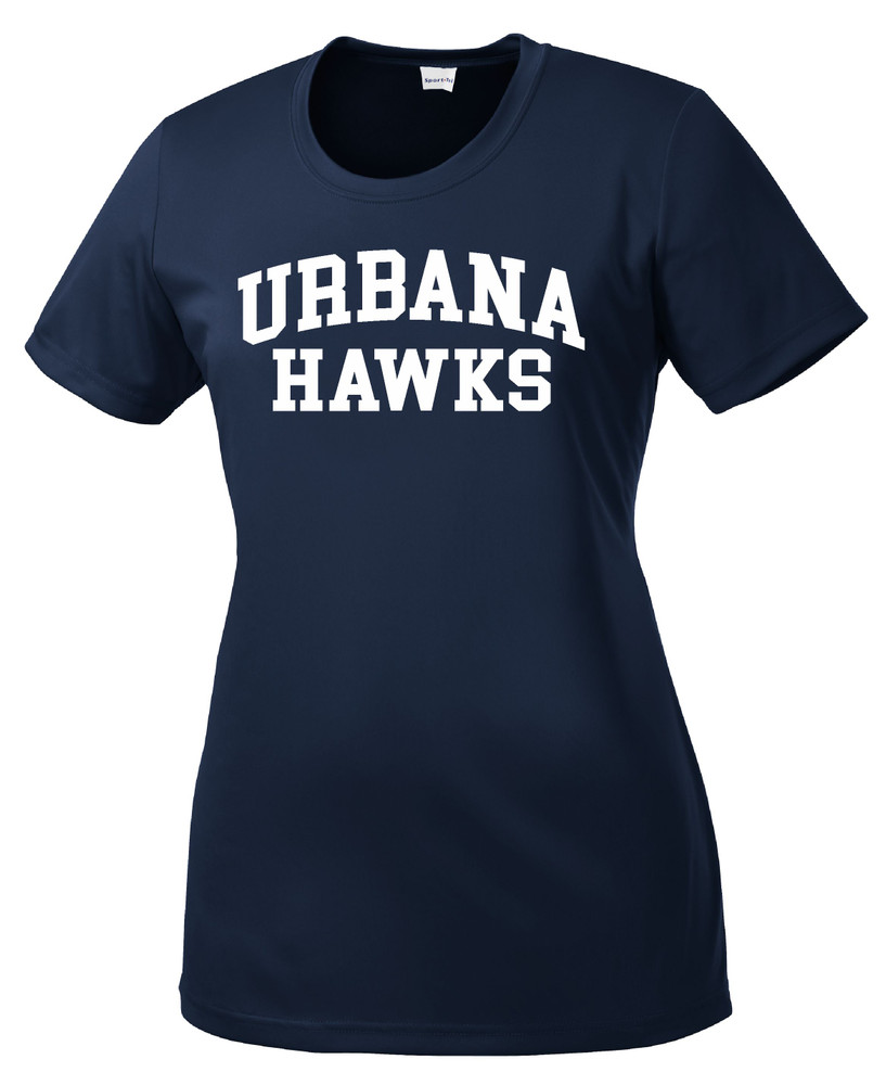 UHS Urbana Hawks T-shirt Performance Posi Charge Competitor Many Colors Available LADIES SZ XS-4XL NAVY