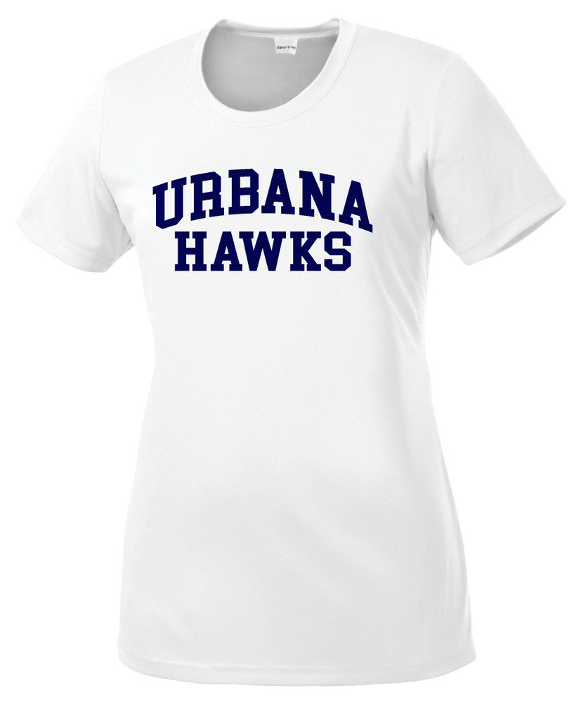 UHS Urbana Hawks T-shirt Performance Posi Charge Competitor Many Colors Available LADIES SZ XS-4XL WHITE