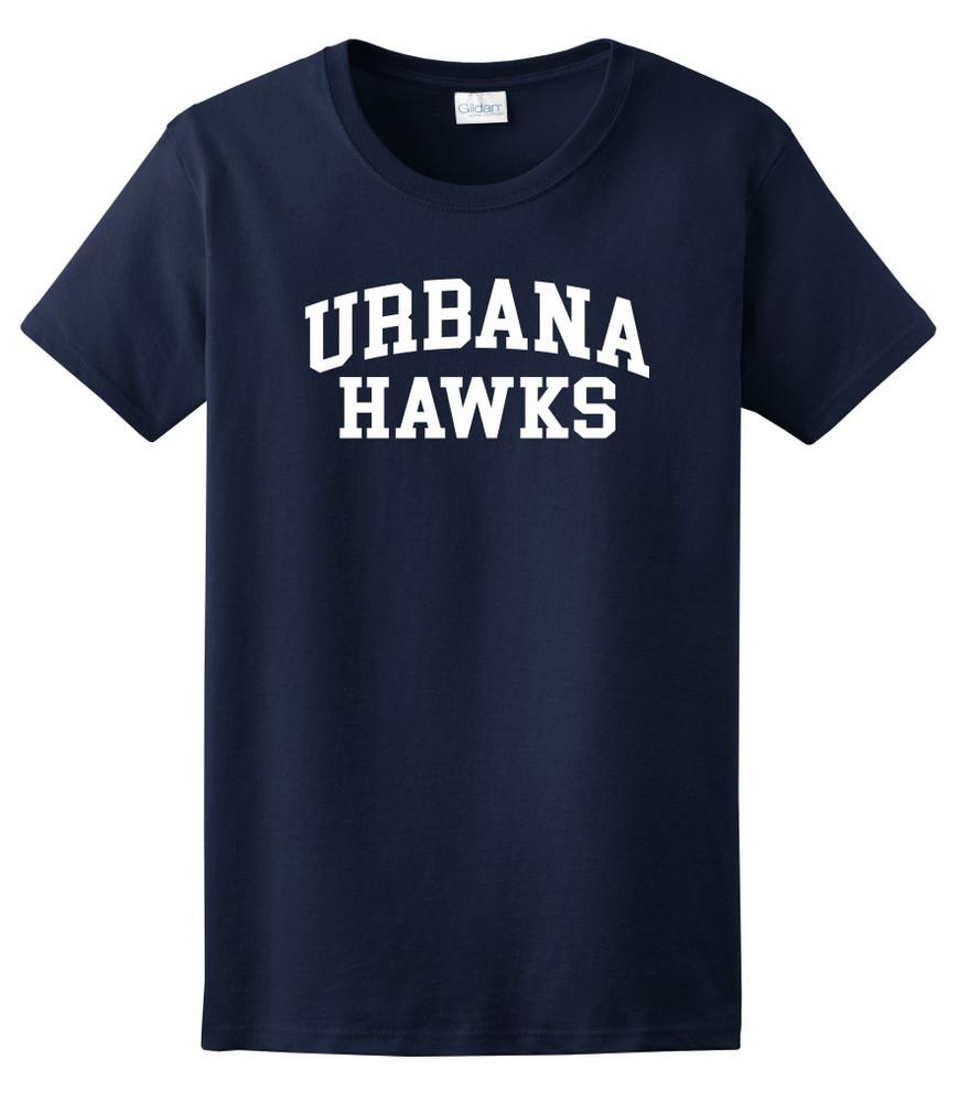 UHS Urbana Hawks T-shirt Cotton LADIES Many Colors Available SZ XS-3XL NAVY