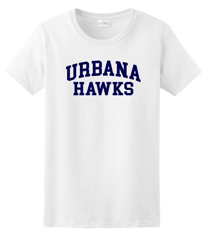 UHS Urbana Hawks T-shirt Cotton LADIES Many Colors Available SZ XS-3XL WHTIE