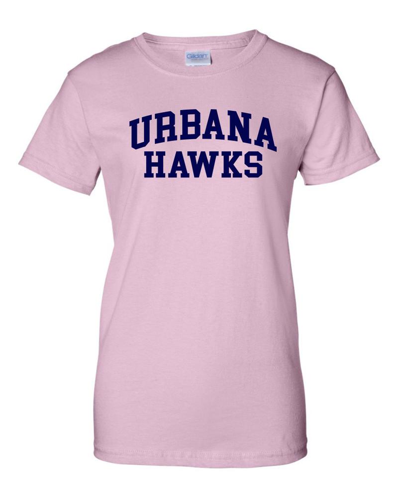 UHS Urbana Hawks T-shirt Cotton LADIES Many Colors Available SZ XS-3XL LT PINK