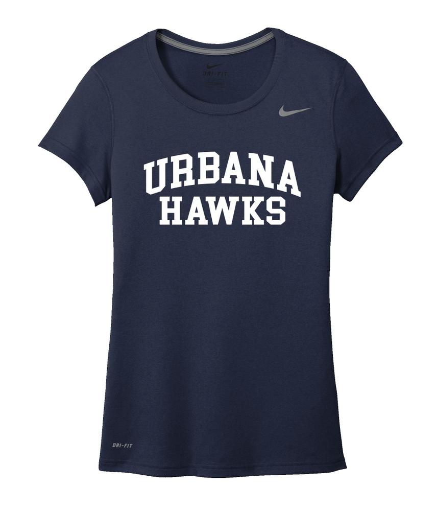 UHS Urbana Hawks T-shirt NIKE Performance Dri-FIT LADIES SZ S-2XL NAVY