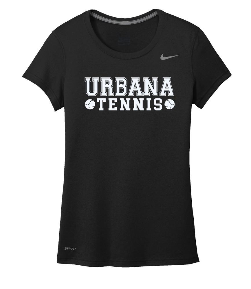UHS Urbana Hawks TENNIS T-shirt NIKE Performance Dri-FIT LADIES SZ S-2XL BLACK
