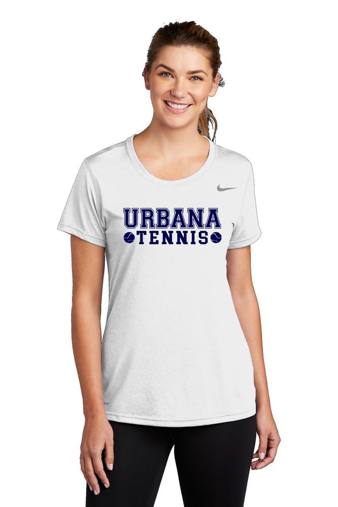 UHS Urbana Hawks TENNIS T-shirt NIKE Performance Dri-FIT LADIES SZ S-2XL WHITE MODEL