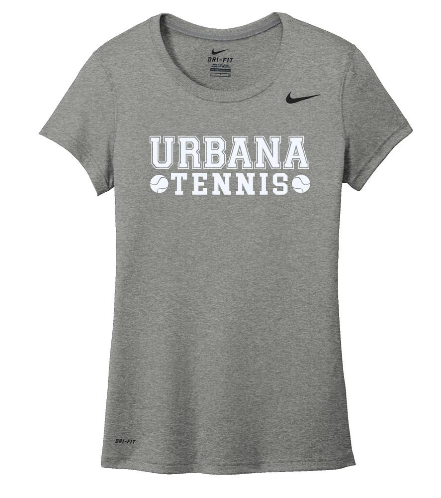 UHS Urbana Hawks TENNIS T-shirt NIKE Performance Dri-FIT LADIES SZ S-2XL CARBON HEATHER