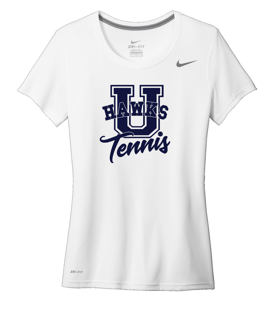 UHS Urbana Hawks TENNIS T-shirt NIKE Performance Dri-FIT LADIES SZ S-2XL WHITE